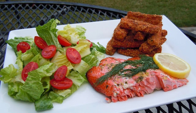 Gourmet Girl Cooks: Cedar Plank Grilled Wild Sockeye Salmon with Zucchini Fries...