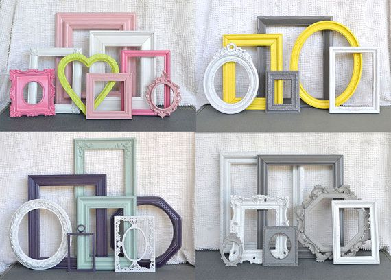 Custom Picture Frame set of 6You Pick Your Own COLORS by BeautiSHE, $65.00