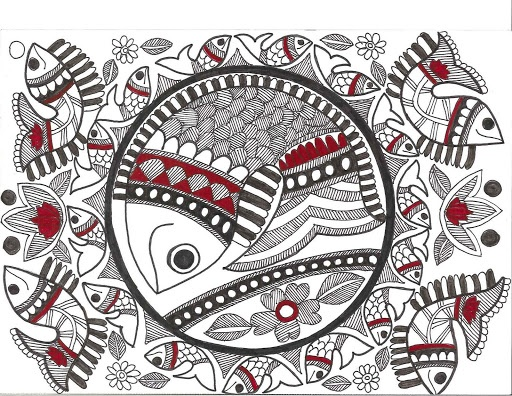 Indian folk art fish