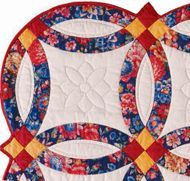 Scrappy double wedding ring quilt pictures