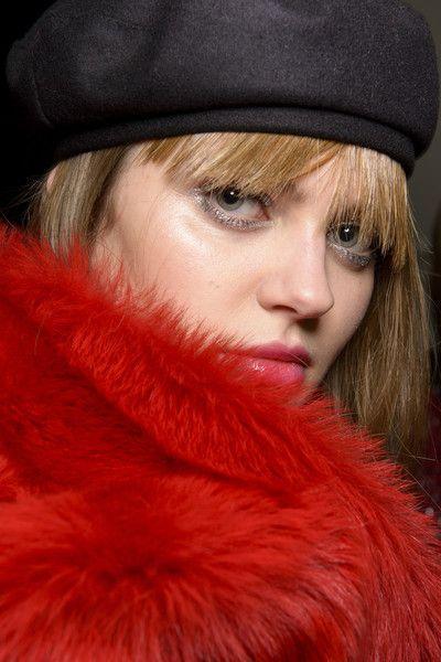Emporio Armani at Milan Fashion Week Fall 2017 - Backstage Runway Photos