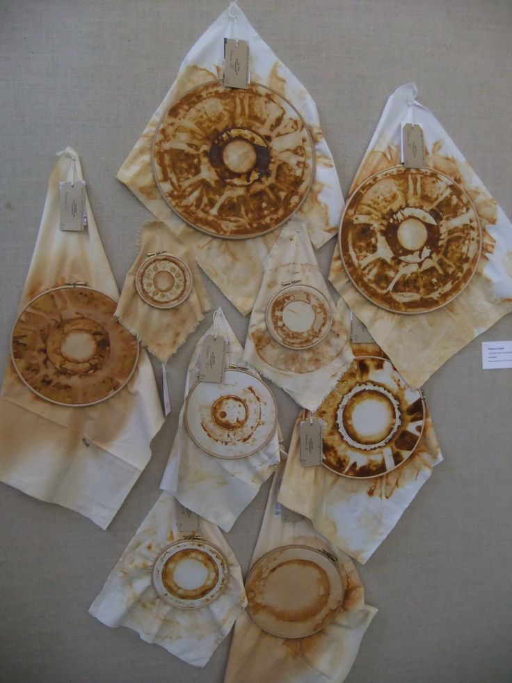 ..'rust dyed circles of love' by Jule Mallett...waiting to be stitched