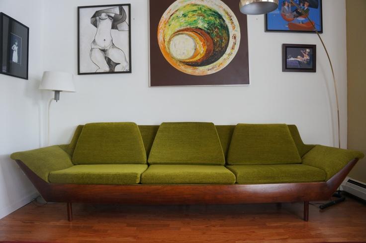 Flexsteel Thunderbird mid century modern retro sofa Coolest couch I've ever seen