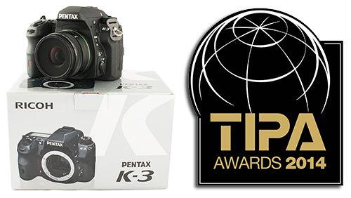 Pentax receives international recognition for the Pentax K3 - Pentax K-3: Best Expert DSLR (TIPA 2014)
