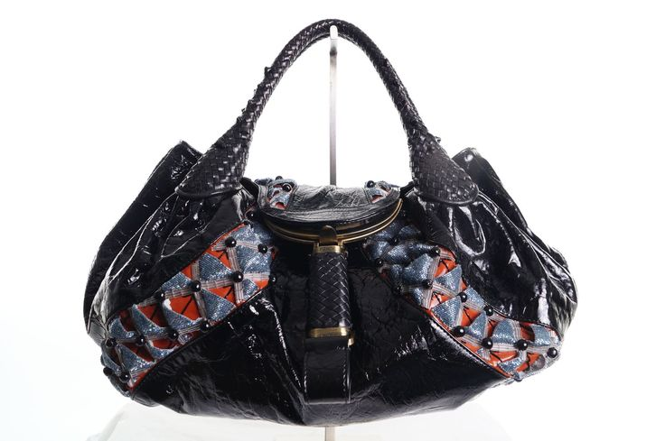 Fendi Limited Edition Black Embroidered & Beaded Leather Spy Bag 100% Guaranteed Authentic.  30 Day No Hassle Return Policy! Authentic Fendi Handbags  sell quickly, check out our current stock. New Arrivals daily. CashinMyBag.com Price: $1799.99