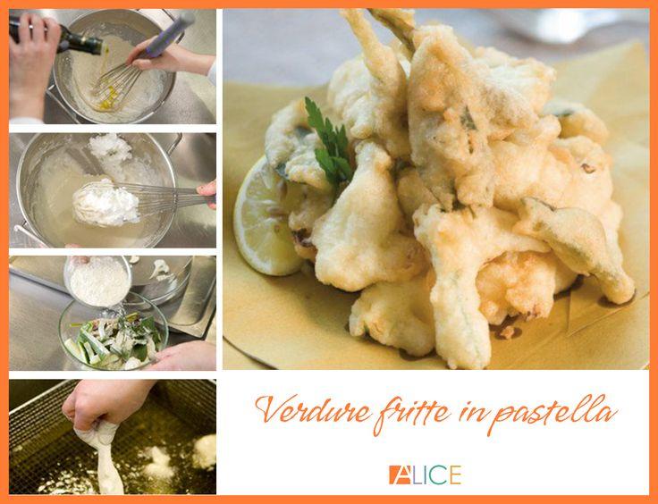 Il nostro chef Fabio Campoli ci propone delle verdure fritte in pastella, una ricetta che può essere servita in veste di finger food sulla tavola di un buffet o più semplicemente come contorno particolare per accompagnare un secondo di carne e di pesce.
