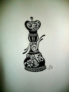 chess piece as a fractal tattoo - Cerca con Google