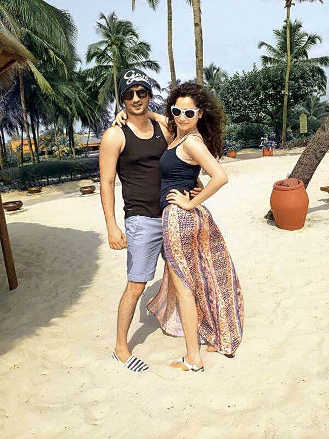 Sushant Singh Rajput and Ankita Lokhande chill out in Goa.