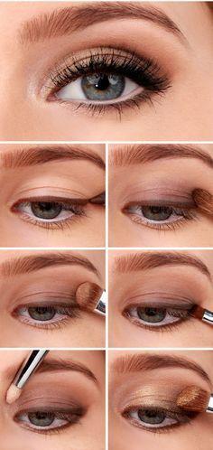 Tutorial para un smokey eye dorado <3 #SmokeyEye #VoranaTips