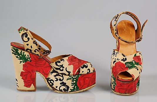 ca 1940 Platform Sandals by Saks Fifth Avenue.