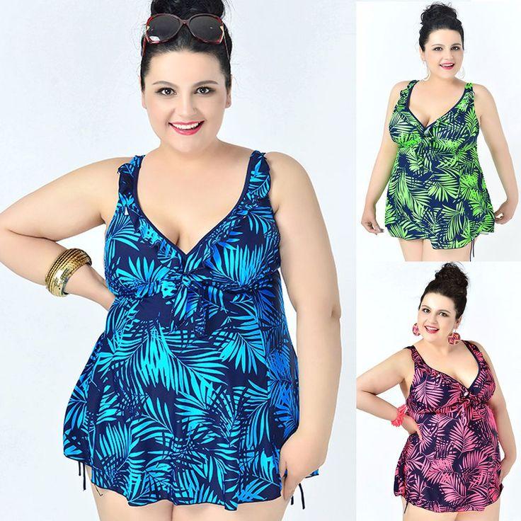 Ladies Swimwear Two Piece Swimdress Bathing Suit AU Size 20 22 24 26 28 30 #0615