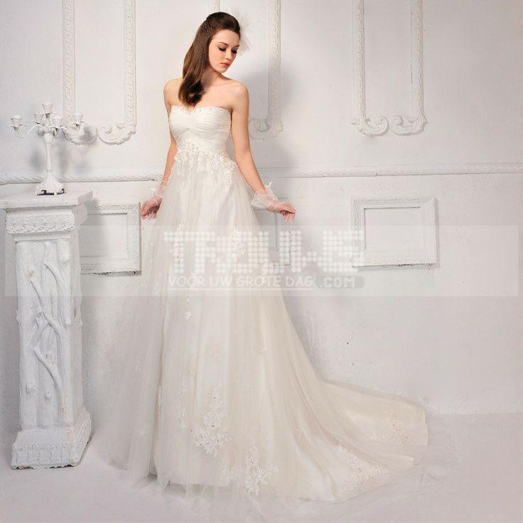 http://www.trouws.com/trouwjurken-c1 Koreaanse stijl Bra van zoete handgemaakte kant trailing trouwjurk - €153.46 , Trouws.com