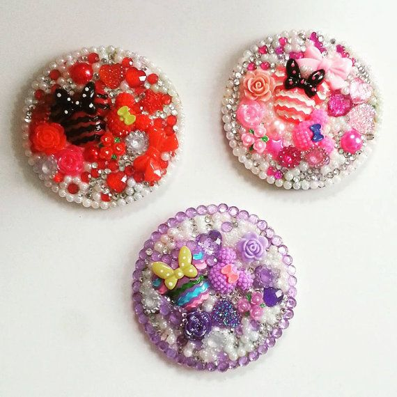 Decoden Mini Mouse Compact Make Up Mirror by AaishasCreativeMess