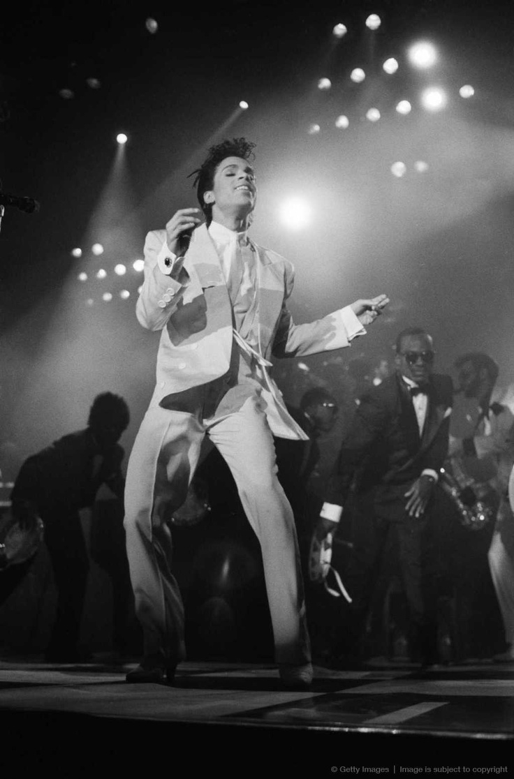 Prince performing w/ the Revolution at the Under the Cherry Moon premiere.