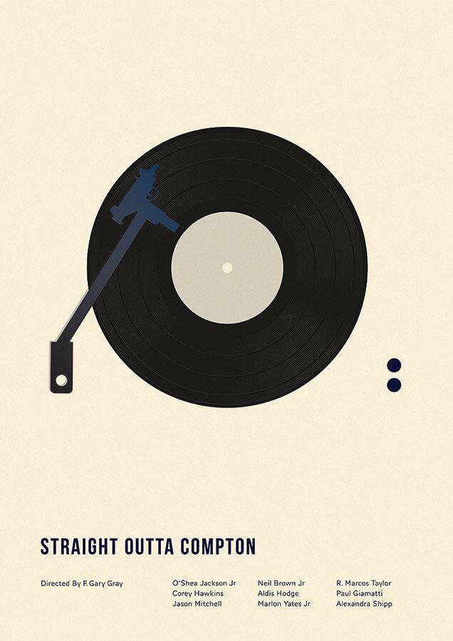 Straight Outta Compton (2015) ~ Minimal Movie Poster by Matt Needle ~ Oscar 2016 Nominess #amusementphile