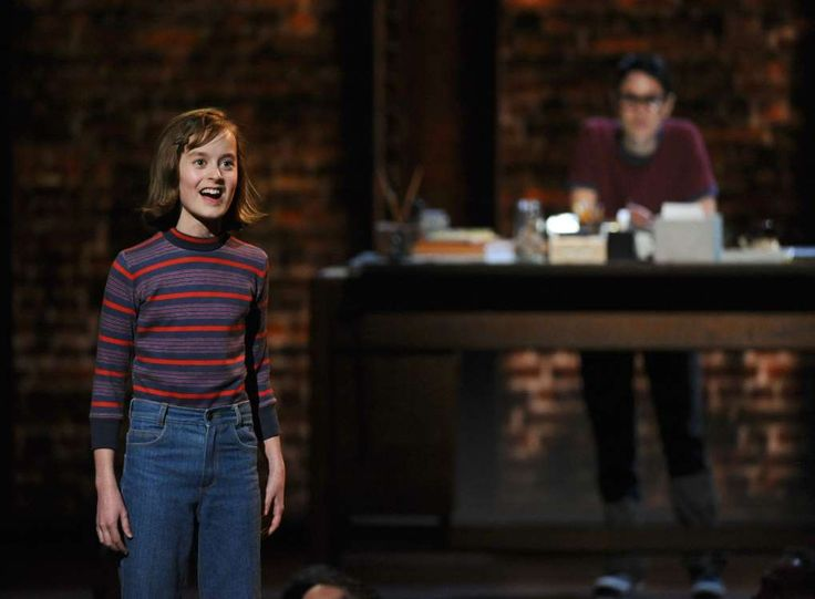 """Sydney Lucas of the cast of """"Fun Home"""" performs at the 69th annual Tony Awards at Radio City Music Hall on Sunday, June 7, 2015, in New York. (Photo by Charles Sykes/Invision/AP)"""