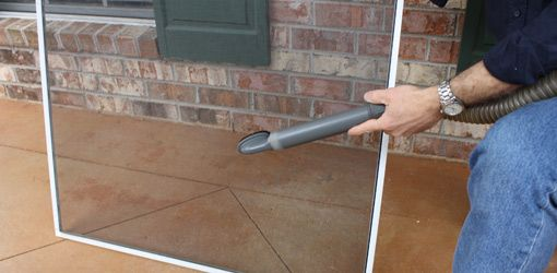 Cleaning Window Screens with a Vacuum Cleaner