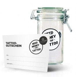 TattooMed® Tattoo Spardose small + gutschein