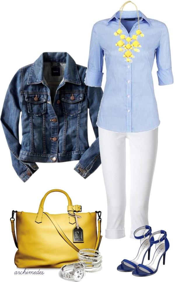 """Blue and Yellow"" by archimedes16 on Polyvore"