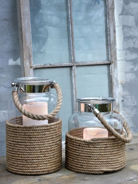 Nautical hurrican lamps...SO GREAT FOR OUTDOORS THIS SUMMER