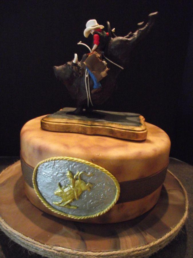 In Western Cowboy Bull Rider Rodeo Cake Album Western/Cowboy