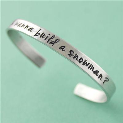 Do You Wanna Build a Snowman? Cuff Bracelet - Spiffing Jewelry, Frozen, Disney