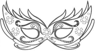 Máscaras de carnaval para imprimir e colorir para crianças