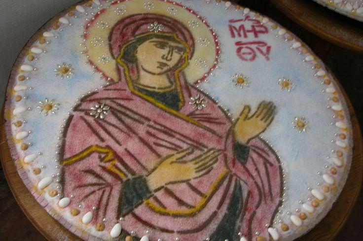 Κόλλυβα en l'honneur de la Toute Sainte Theotokos