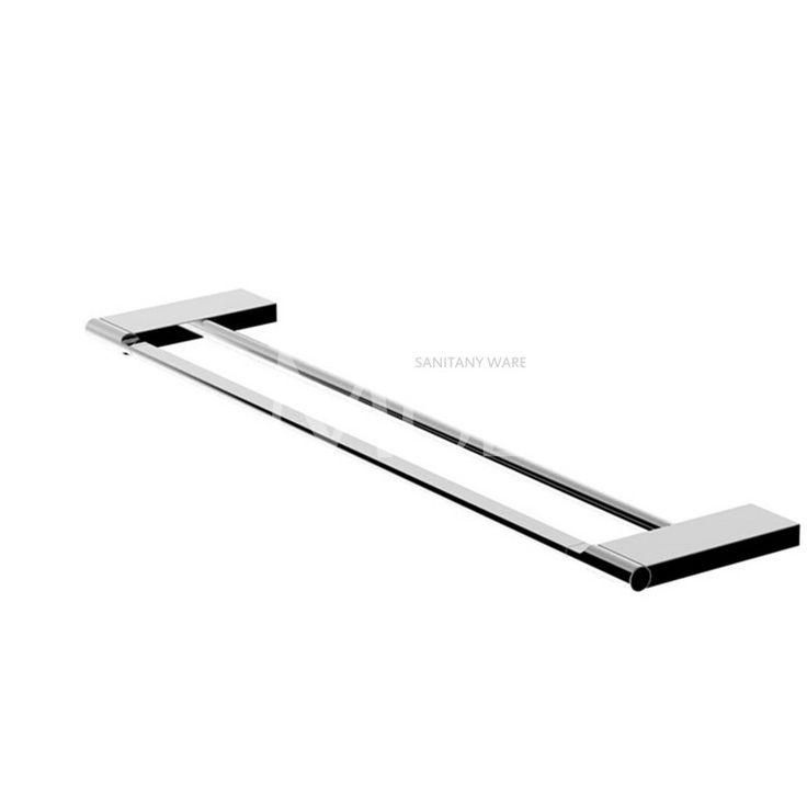 Modern Bathroom Accessories Set Wall Mount Chrome Finish Towel Bar Shelf Brush Holder Paper Roll Rack