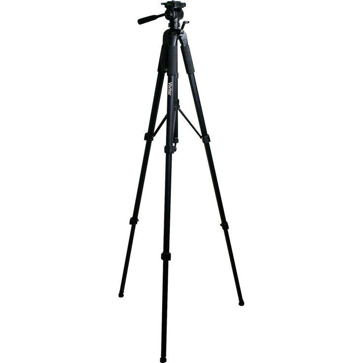 Um tripé que ajuda a estabilizar a câmera para fotografias melhores e mais nítidas,