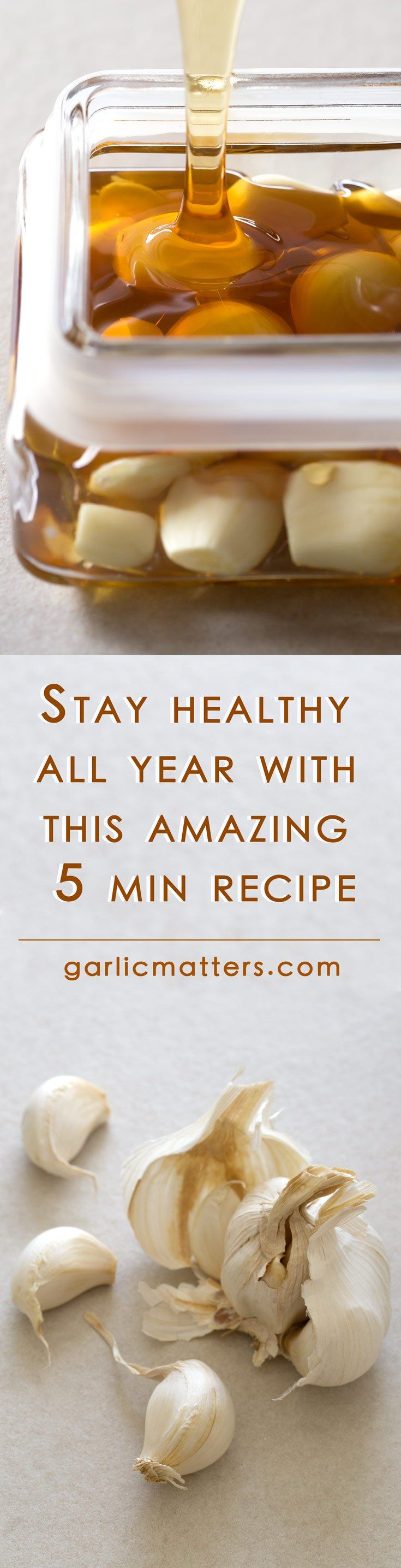 Try my simple immune system boosting honey infused garlic to stay clear of cold & flu all year. This recipe is also a powerful natural remedy for cough, sore throat, cold and flu symptoms. I always keep a jar of honey fermented garlic to snack on and use honey to sweeten cold drinks, tea, to use as a glaze for meat and vegetables or in salad dressings.