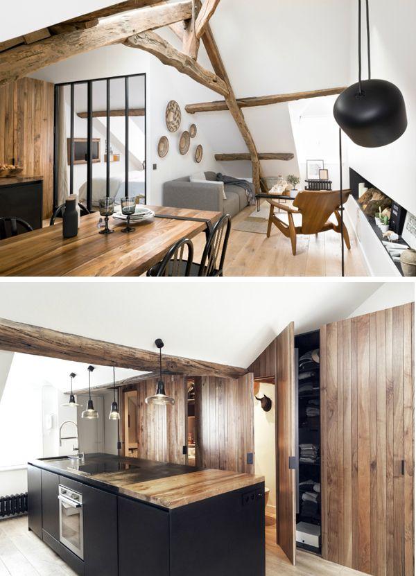 Blog Déco nordique - Appartement stylé sous les toits de Paris