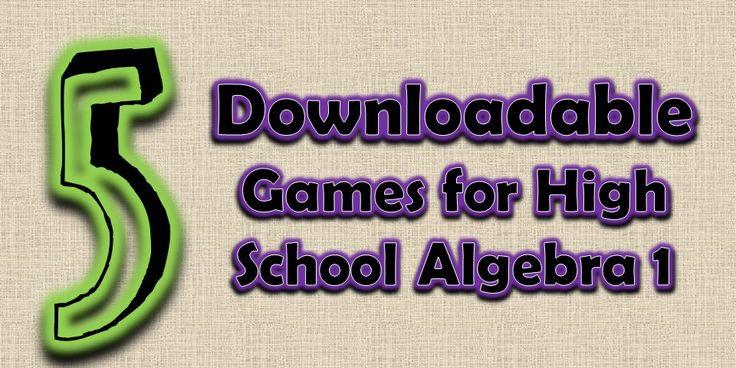 Collection of Algebra Games - FREE downloads for High School Algebra 1 (and some Pre-Algebra) at www.mathgiraffe.com
