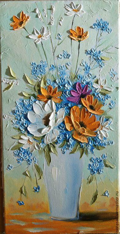 Картины цветов ручной работы. Ярмарка Мастеров - ручная работа. Купить Нежность. Handmade. Разноцветный, картина, картина в подарок