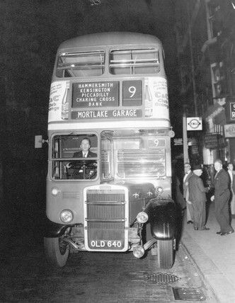 1960's London...the Number 9 bus to Hammersmith.