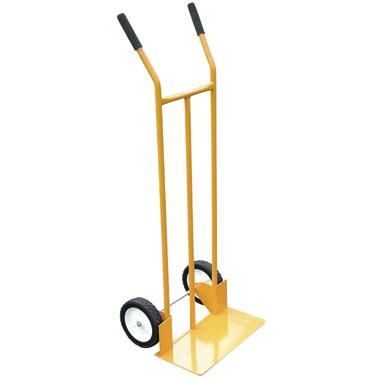 Steel frame solid toe sack truck. 80Kg max loading capacity. 170mm loading plate length. Solid smooth roll wheels. Lightweight. Painted yellow finish. Body size: 1080 x 450mm. - See more at: https://actionhandling.co.uk/Our-Store/c/trucks/p/budget-steel-sack-truck#sthash.57NVfJRN.dpuf