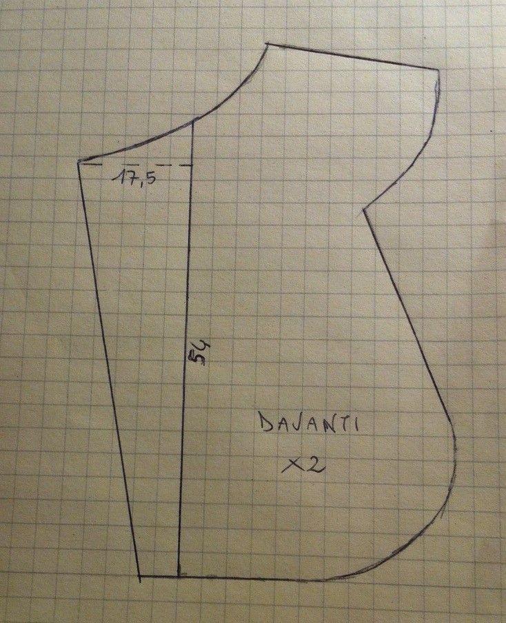 Il cartamodello (davanti) per realizzare il Sacco Nanna della puntata del 4-2-15 per Detto Fatto su Rai 2