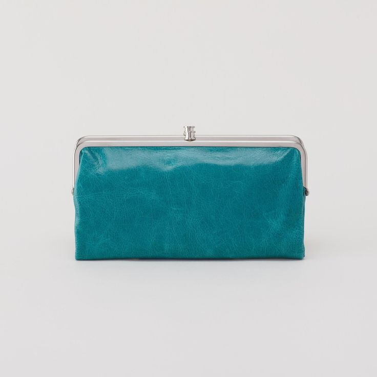 HOBO Lauren Clutch Wallet- Teal