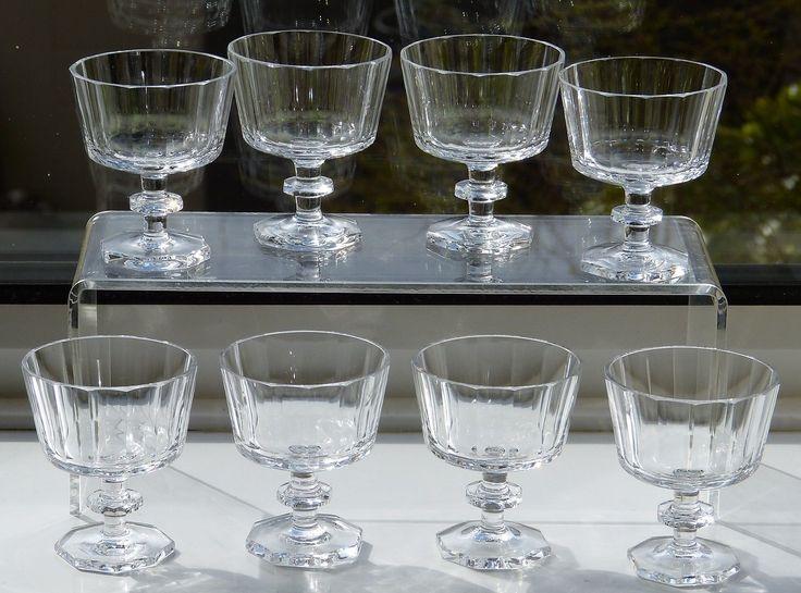 8 Rare KOSTA BODA Crystal KARLBERG Pattern MADEIRA Glasses SIGNED Base SWEDEN   eBay