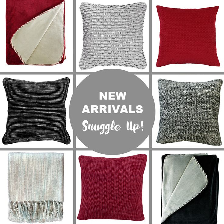 New Season Winter Cushions & Throws - lovely knitted cushions and snuggly throws at Harvey Furnishings