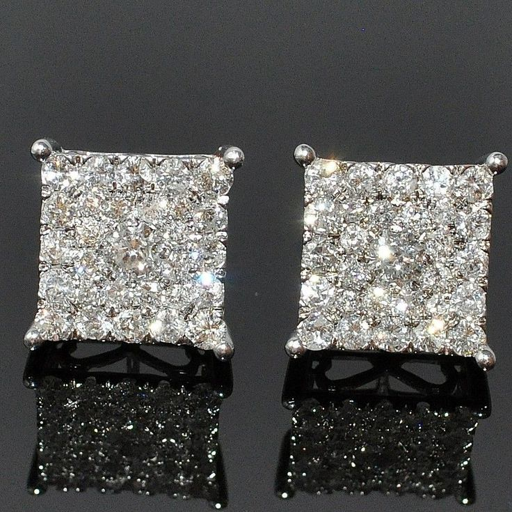 Diamond Earrings For Men Hd Mens Xl Diamond Stud Earrings Square Big