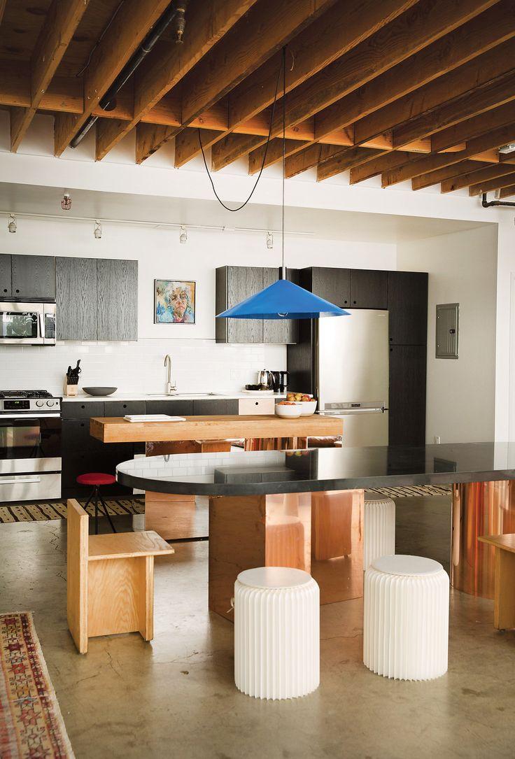 Inside her apartment in Los Angeles's Frogtown neighborhood.