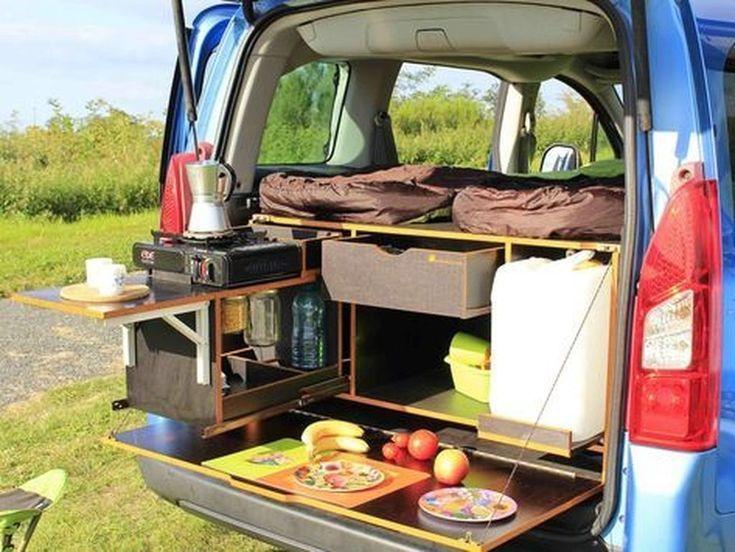 36 ideas for great mini-van camping organizations