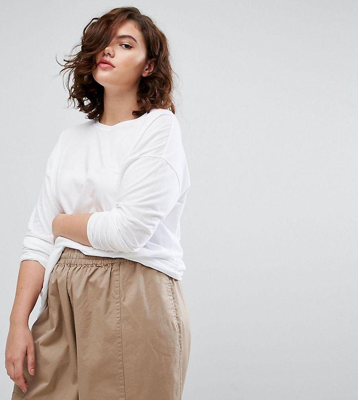 ASOS CURVE Oversized Longline T-Shirt - White