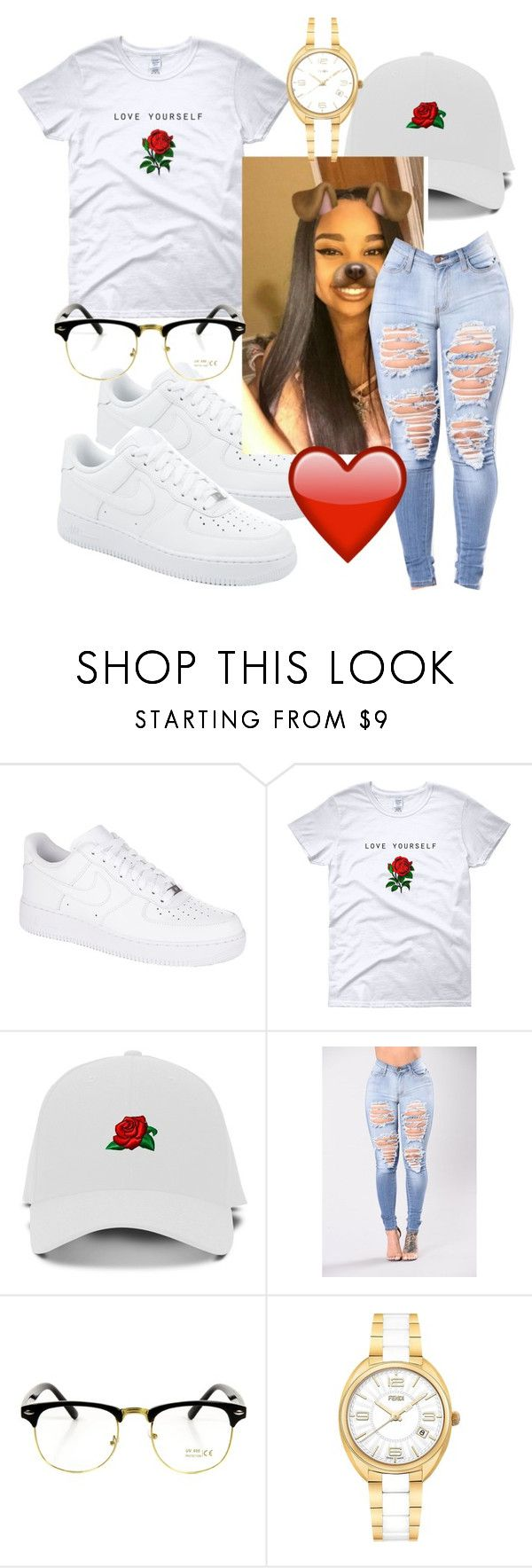 """""""Im the One~Dj Khaled, Quavo, Chance the Rapper, Lil Wayne Justin Beiber"""" by qveenpolyvore ❤ liked on Polyvore featuring NIKE and Fendi"""
