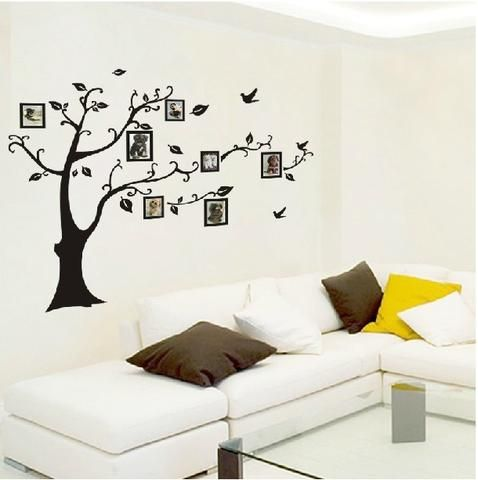 Family Photo Frames Tree Wall Decals, Home Decor, Wall Sticker, 3 Sizes