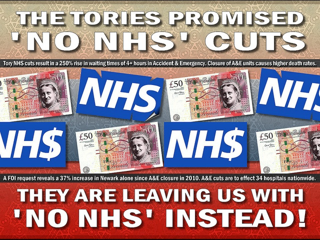 The NHS - Cuts and Lies. #Tory #Tories #government #politics #lies #Cameron