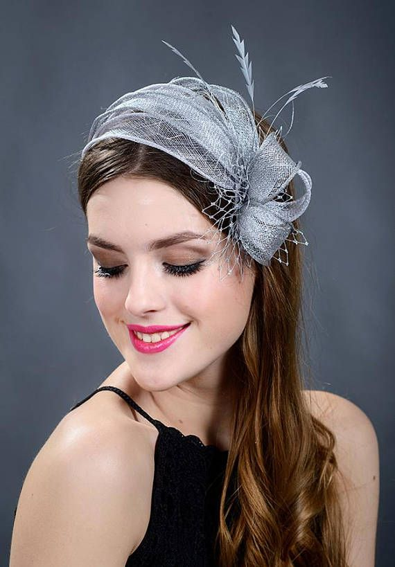 Silver wedding fascinator. Silver fascinator. Silver wedding ... 96fcaa37a0cb