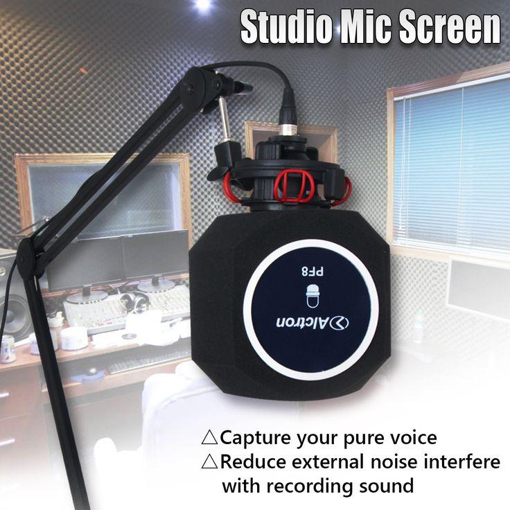 Best Deal USA Stock: Studio Microphone Screen Acoustic Sponge Soundproof Filter Recording Wind Screen