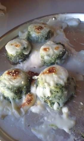 Muffins de acelga con Bechamel